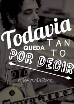 CERATI Soda Stereo, Save My Life, Karaoke, Music Songs, Love Songs, Song Lyrics, The Beatles, Inspire Me, Rock And Roll