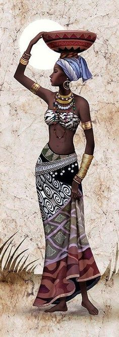 African beauty - woman portrait