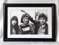 Items similar to Bob Dylan with Sonny & Cher photo by Don Paulsen in Black Frame on Etsy Cher Photos, Music Photo, Black And White Portraits, Bob Dylan, One Kings Lane, Art Inspo, Service Design, Art Photography, Frame