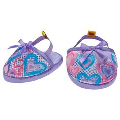 Lavender Hearts Slippers - Build-A-Bear Workshop US