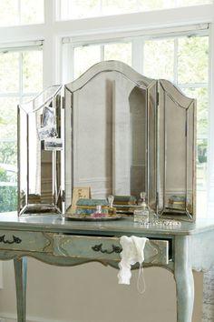 Brigitte Tri-fold Mirror - Tri-fold Vanity Mirror, Smoked Glass Mirror, Vanity Mirror | Soft Surroundings