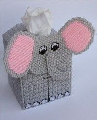 everything plastic canvas | Plastic Canvas-Elephant Tissue Topper Plastic-Canvas-Kits.Com
