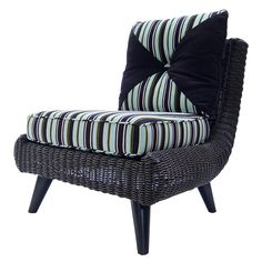 The Valerie Club Chair, Teak & Resin Weave from Walters Wicker Exterior Collection.