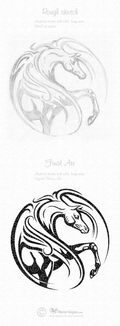 Arabian Horse Graphic Art Design by Joni Solis of Horse-Logos.com Final art… More Simple Line Drawings, Horse Logo, Motifs Animal, Horse Silhouette, Horse Pattern, Horse Drawings, Cool Sketches, Sketch Design, Horse Art