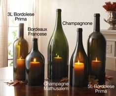 Learn how to make stunning candle holders out of wine bottles for the perfect wine themed candle accents.