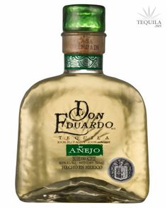 Don Eduardo Tequila Anejo. The corked lid is also a shot glass. Good Tequila.