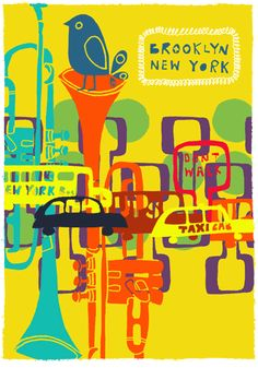 cool screen print by Patrick Edgely that I saw at a arts fair in Lewes, England