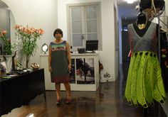 Rosa Rapaza Ela Diz, dress by Nice Things & clogs by Elena Ferro