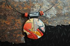 Take it for Granite pendant by Pages Creations, via Flickr