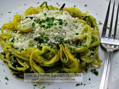 Garlic Thyme Squash Noodles – Low Carb, Gluten Free, Paleo