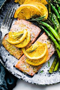 9a5078bd6dbb Rosemary Citrus One Pan Baked Salmon  Paleo  (Cotter Crunch)