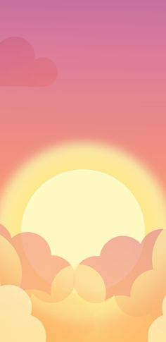 Sunset Wallpaper, Just Peachy, Backrounds, Vector Art, Celestial, Minimal, Wallpapers, Iphone, Sun
