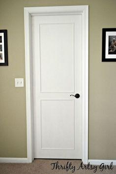 Attractive Hollow Core Bore To A Beautiful Updated Door Diy Slab Door Makeover, Doors,  How To, Painting