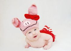 Olivia the Pig hat by HalliesClosetdotcom on Etsy, $22.00