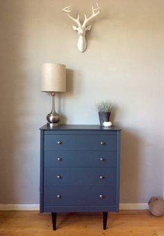 Mid-century dresser in #farrowandball #downpipe by bts interiors + concept store. Interior design + styling service coming soon... #finditpaintitloveit