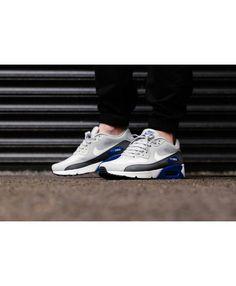 a8d3ae0290b92 Nike Air Max 90 Ultra 2 0 Essential Wolf Grey White Dark Grey Game Royal  Shoe discount