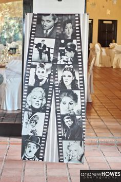 The pull up banner designed and printed which was a focal talking point; an integral part of our wedding movie theme and wedding celebrations
