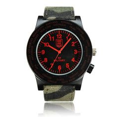 AK Military Canvas Band Waterproof Quartz Sport Watch Specification: Item Type: Wrist Watch Dial Window Material Type: Glass Water Resistance Depth: 10m Movement: Quartz Watch Clasp Type: Buckle Style: Fashion & Casual & Sport Gender: Unisex Dial Display: Analog Case Shape: Round Band...
