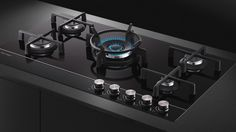 My dream!  The beautiful Fisher & Paykel glass gas cooktop in action, kitchen, cooking,