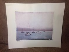 1999 Tomales Sailboats At Sea Print by Amy Melious Gango Editions Vintage Artwork, Sailboats, Artwork Prints, Amy, Tapestry, Home Decor, Sailing Yachts, Hanging Tapestry, Tapestries