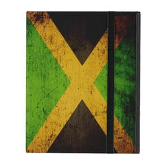 Black Grunge Jamaica Flag iPad Cases