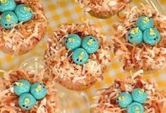 Baby bluebird nest cupcakes