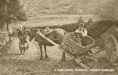 All about #Irish history-A turf creel, Donegal