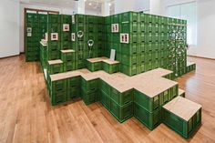 yalla yalla! – studio for change 2015stacks vegetable crates for exhibition in germanyphotography by yannick wegner team: robin lang, wulf kramercuratorship: theresia kiefer (wilhelm-hack-museum)