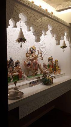 Pooja Room Design, Pooja Rooms, Temple, House Ideas, Temples
