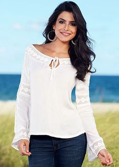 White Crochet lace top from VENUS