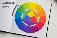 Analogous colors: Any colors that are side-by-side on the color wheel