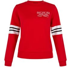 Teens Red New York City Sweater    New Look