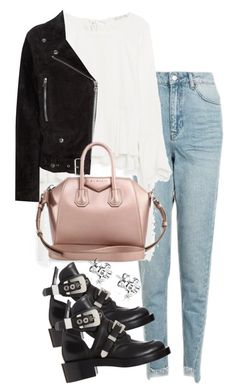 """""""Untitled #2944"""" by theeuropeancloset on Polyvore featuring Topshop, Acne Studios, Givenchy and Balenciaga"""