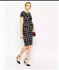 30ee768991 Enlarge ASOS Maternity Textured Body-Conscious Dress In Check Print