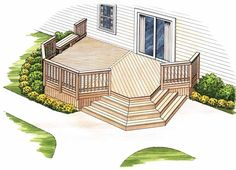 Eplans Deck Plan - A Deck with Backyard Appeal from Eplans - House Plan Code HWEPL74868