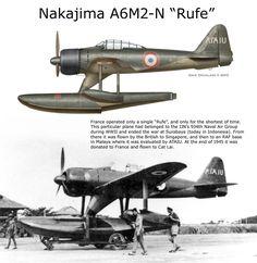 "A captured Nakajima A6M2-N ""Rufe"" with British markings"