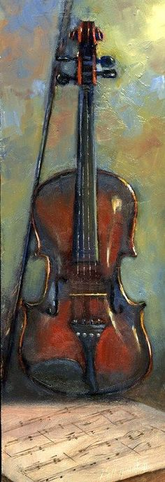 "Hall Groat II | OIL | ""Violin"" #OilPaintingClassic"