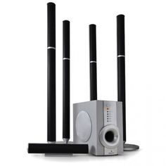 Fijne upgrade voor je DVD speler of TV; een 5.1 thuisbioscoop met Actieve Subwoofer!