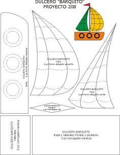 molde barco pirata feltro - Pesquisa Google