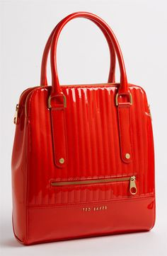 9fd3a01e9132 I love RED Bags. Ted Baker London Quilted Patent Shopper (comes in elegant  black and the sublimest light pink)