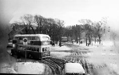 Archive photo of a double decker bus in Brighton Snow (Dec Brighton Rock, Brighton And Hove, Old Photos, Vintage Photos, Lost Images, Double Decker Bus, Bus Coach, Coaches, Buses