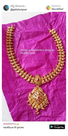 Gold Jhumka Earrings, Gold Earrings Designs, Gold Jewellery Design, Indian Gold Necklace Designs, Gold Designs, Gold Necklace Simple, Gold Jewelry Simple, Gold Necklaces, Gold Wedding Jewelry