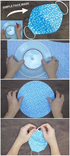 Simple Face Mask in 15 Minutes Super easy face mask tutorial. Diy Sewing Projects, Sewing Tutorials, Sewing Hacks, Sewing Crafts, Sewing Tips, Easy Face Masks, Diy Face Mask, Diy Quilt, Quilts