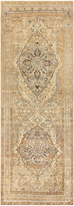 Antique Persian Tabriz Runner Rug, Origin: Persia, Circa: First quarter of the 20th century (around 1920) 5 ft 8 in x 15 ft 3 in (1.73 m x 4.65 m)