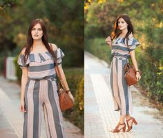 Viktoriya Sener - Poppy Lovers Co Ord, Michael Kors Bag, Desa Sandals - STRIPES