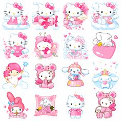❤ For all things Hello Kitty ❤ Pixel Art, Hello Kitty Art, Iphone Design, Hello Kitty Wallpaper, Sanrio Characters, Planner, Cute Icons, Pink Aesthetic, Cute Stickers