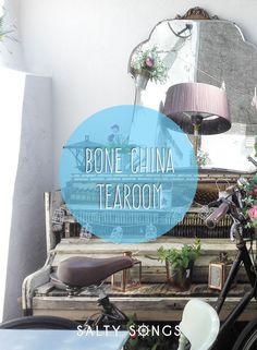 Dining at Bone China Tearoom, Truro, Cornwall