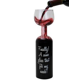 BigMouth Inc. Finally! Bottle Wineglass | zulily