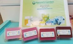 MAUVE! I just can't get enough of this new mauve color block display! #ColorBlocks #CandleColorant #NewProducts #NaturesGarden #NGScents Candle Making Supplies, Homemade Candles, Mauve Color, How To Make Homemade, Soap, Display, Billboard, Soaps