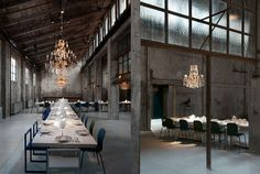 Three creative partners and a dramatic industrial setting came together to create a new restaurant & cocktail bar Carlo e Camilla in Segheria in Milan.